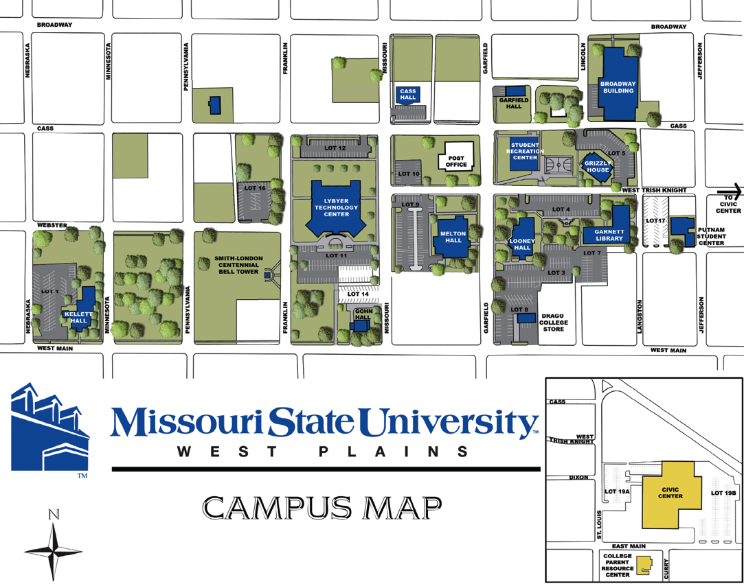 West Plains Campus Map